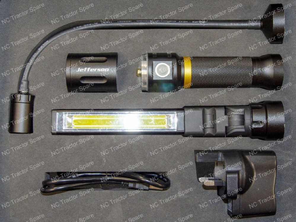 300 lumens 3-in-1 Interchangeable Rechargeable LED Lamp & Torch Kit